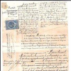 Documentos bancarios: LETRA DE CAMBIO. NAVALLAS. AÑO 1891.. Lote 56496861