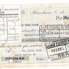 Documentos bancarios: LETRA DE CAMBIO. MARTINI & ROSSI. BERGA (BARCELONA). JULIO DE 1946.. Lote 56588235