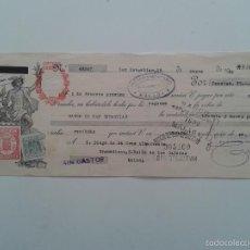 Documentos bancarios: LETRA DE CAMBIO AÑO 1943 SAN SEBASTIAN MALAGA CREDITO LOINAZ. Lote 56695183
