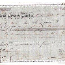 Documentos bancarios: CUBA. INGENIO JESUS MARIA. 1867. PAGARÉ.. Lote 56914616