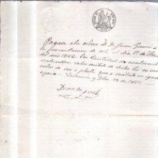 Documentos bancarios: 1861. PAGARE DE 4000 REALES DE VELLON.. Lote 56915280