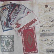 Documentos bancarios: LETRA DE CAMBIO HOJAS DE AFEITAR A TODO COLOR - CASA GASTON DE BARCELONA - AÑO 1956. Lote 57031220
