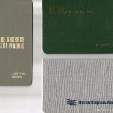 Documentos bancarios: LOTE DE *TRES CARTILLAS DE BANCOS YA DESAPARECIDOS*.. Lote 57089604