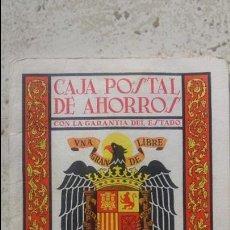 Documentos bancarios: LIBRETA CAJA POSTAL DE AHORROS. Lote 57414434