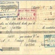 Documentos bancarios: LETRA DE CAMBIO - EMITIDA EN - VALLADOLID EL 3 - 9 - 1924. Lote 57699315