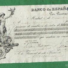 Documentos bancarios: PRIMERA DE CAMBIO, BANCO DE ESPAÑA 4 DE DICIEMBRE DE 1888. Lote 57703574