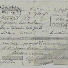 Documentos bancarios: LETRA DE CAMBIO - EMITIDA EN - CANDELARIO - EL 2 - 6 - 1927. Lote 57706339