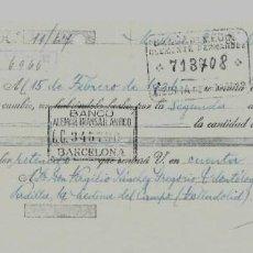 Documentos bancarios: LETRA DE CAMBIO - EMITIDA EN - MADRID - EL 8 - 3 - 1935. Lote 57706381