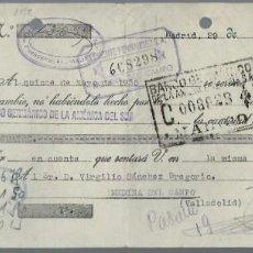 Documentos bancarios: LETRA DE CAMBIO - EMITIDA EN - MADRID - EL 29 - 3 - 1935 . Lote 57712013