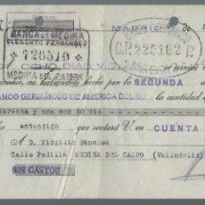Documentos bancarios: LETRA DE CAMBIO - EMITIDA EN - MADRID - EL 30 - 4 - 1936 . Lote 57712043