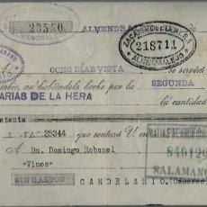Documentos bancarios: LETRA DE CAMBIO - EMITIDA EN - ALMENDRALEJO - EL 31 - 5 - 1937 . Lote 57712094