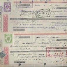 Documentos bancarios: LOTE DE 10 LETRAS DE CAMBIO - EMITIDA - DEL 1940 - 1947. Lote 57712284