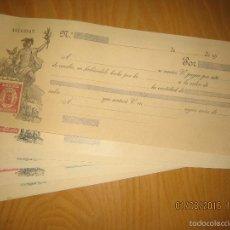 Documentos bancarios: LOTE DE 8 LETRAS II REPUBLICA EN BLANCO - ENVIO GRATIS. Lote 64002591