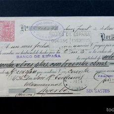 Documentos bancarios: LETRA CAMBIO / REPUBLICA - AÑO 1937 / REVERSO CON TIMBRES - CADIZ / PEDRO DOMECQ - JEREZ . Lote 58451531