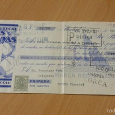 Documentos bancarios: ANTIGUA LETRA DE CAMBIO BETULOPTICAL CUYAS ÓPTICA MADRID 1933. Lote 58537761