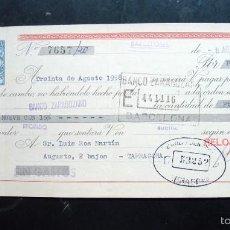 Documentos bancarios: LETRA DE CAMBIO - RELOJES PORTUSACH - 1958. Lote 58736082