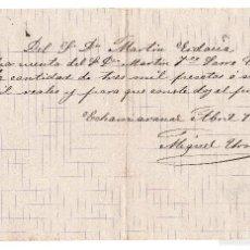 Documentos bancarios: PAGARE 3000 PESETAS 12000 REALES FECHADO EN 1885. Lote 59938407