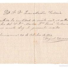 Documentos bancarios: PAGARE 20.000 REALES DE VELLON FECHADO EN 1884. Lote 59938463