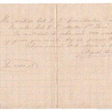 Documentos bancarios: PAGARE 8000 REALES DE VELLON FECHADO EN 1886. Lote 59938519