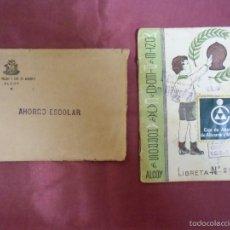 Documentos bancarios: ALCOY.MONTE DE PIEDAD Y CAJA DE AHORROS,LIBRETA AHORRO ESCOLAR,APERTURA 27/6/1968.. Lote 60227451