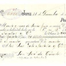 Documentos bancarios: LETRA. AÑO 1894. GUTIERREZ HERMANOS. VALE MONTAÑA. COLOMBIA.. Lote 132168315