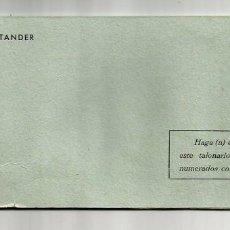 Documentos bancarios: ANTIGUA CHEQUERA - TALONARIO DE CHEQUES BANCO DE SANTANDER - SUCURSAL DE BILBAO. Lote 60618823