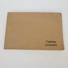 Documentos bancarios: ANTIGUA LIBRETA MIQUELRIUS DE CUENTAS CORRIENTES. TAPAS DE PIEL. Lote 60713531
