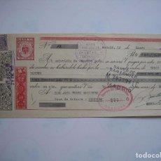 Documentos bancarios: LETRA DE CAMBIO JOSE PEREZ-BARQUERO . CORDOBA. Lote 63399552