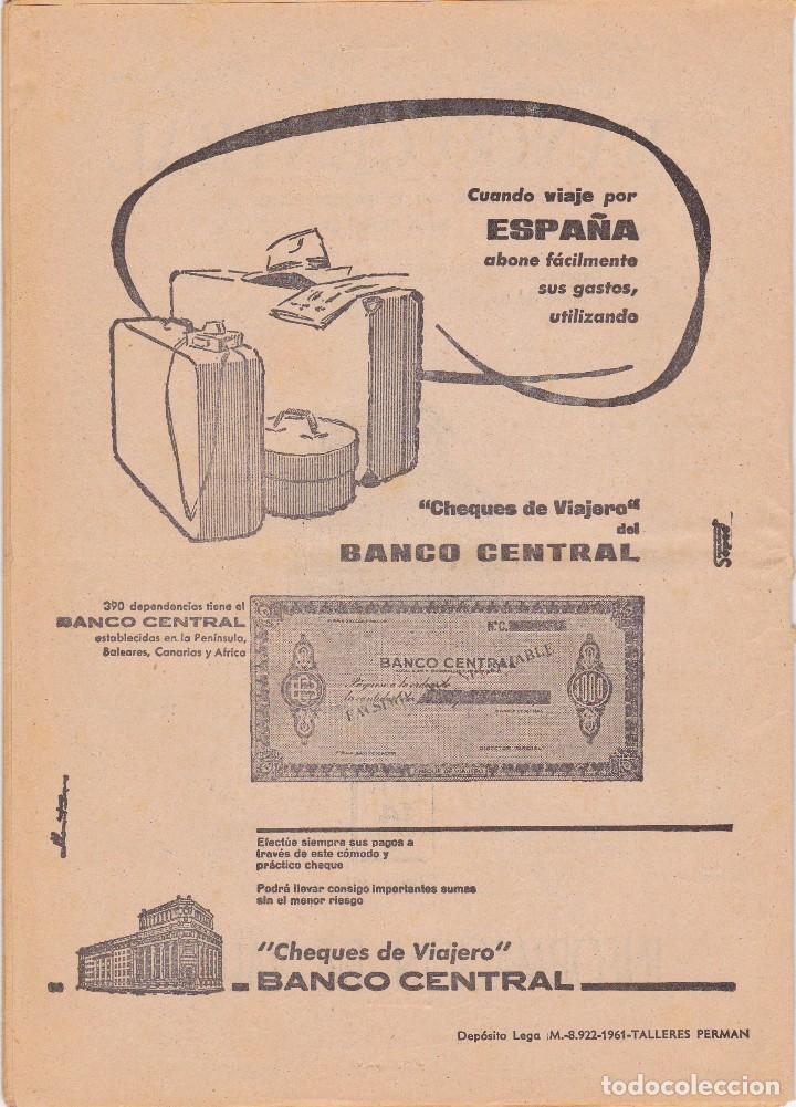 BANCO CENTRAL - CHEQUES DE VIAJERO - TALLERES PERMAN 1961 (Coleccionismo - Documentos - Documentos Bancarios)
