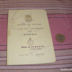 Documentos bancarios: CARTILLA DE AHORRO - MONTE PIEDAD Y CAJA DE AHORROS DE RONDA - 1970. Lote 64197719