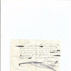 Documentos bancarios: PAGARÉ MANUSCRITO - LOGROÑO 1854. Lote 66119886