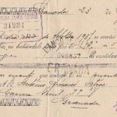 Documentos bancarios: 1937.GRANADA .LETRA DE CAMBIO,BANCO DE BILBAO. Lote 66506926