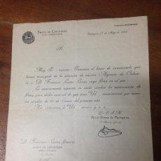 Documentos bancarios: BANCO DE CARTAGENA MURCIA CIRCULAR NUEVA DIRECCION AGENCIA DE ORIHUELA ALICANTE 1907. Lote 68254937