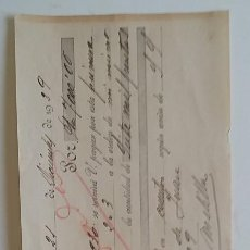 Documentos bancarios: MALAGA AÑO 1929 *LETRA DE CAMBIO A MELILLA. Lote 68984189