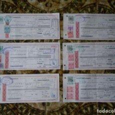 Documentos bancarios: LOTE DE 6 DOCUMENTOS BANCARIOS PAGARES , VERR. Lote 69075269