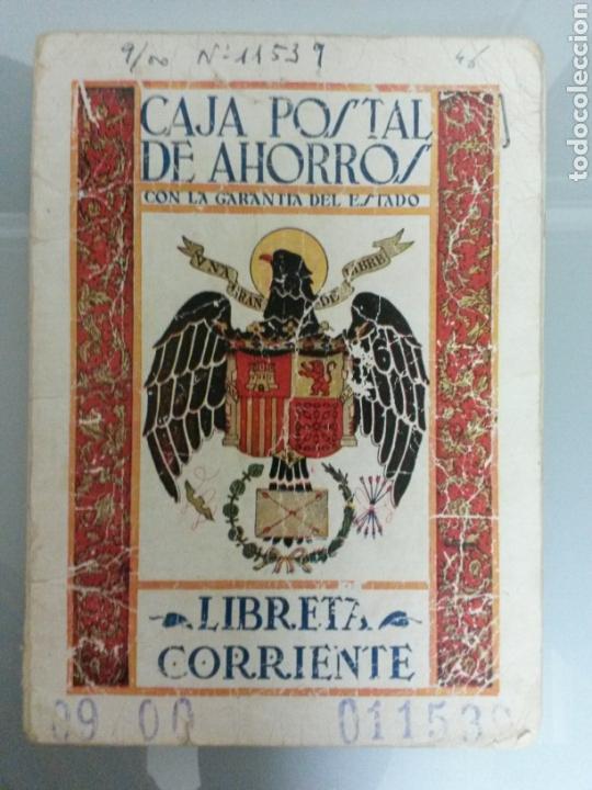 LIBRETA CORRIENTE CAJA POSTAL DE AHORROS AÑO 1947 (Coleccionismo - Documentos - Documentos Bancarios)