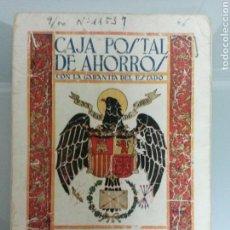 Documentos bancarios: LIBRETA CORRIENTE CAJA POSTAL DE AHORROS AÑO 1947. Lote 71556278