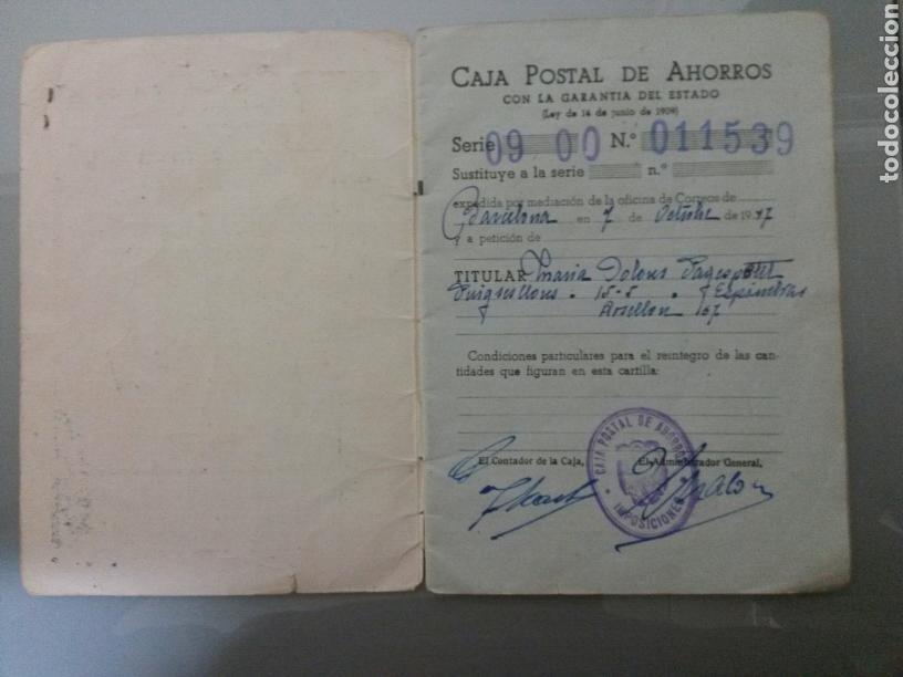 Documentos bancarios: LIBRETA CORRIENTE CAJA POSTAL DE AHORROS AÑO 1947 - Foto 2 - 71556278