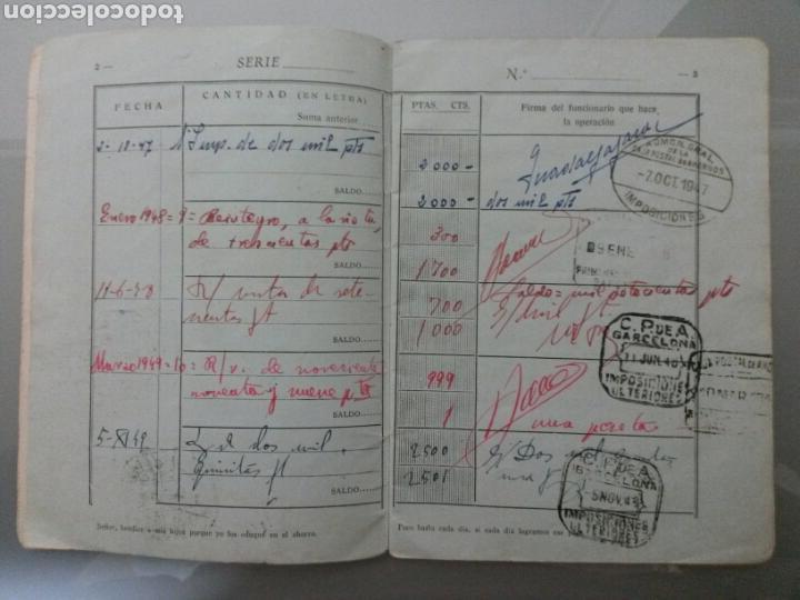 Documentos bancarios: LIBRETA CORRIENTE CAJA POSTAL DE AHORROS AÑO 1947 - Foto 3 - 71556278