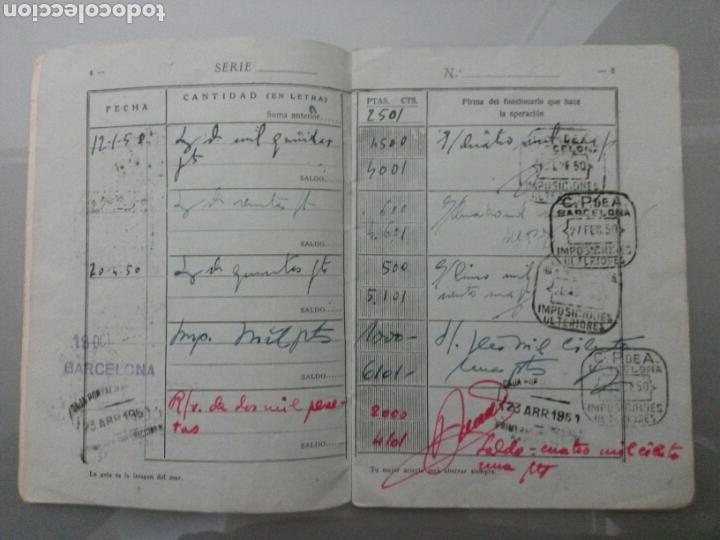 Documentos bancarios: LIBRETA CORRIENTE CAJA POSTAL DE AHORROS AÑO 1947 - Foto 4 - 71556278
