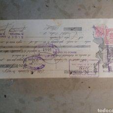 Documentos bancarios: GUERRA CIVIL ELDA 1937 SINDICATO DE LA INDUSTRIA DEL CALZADO DE ELDA Y PETRER ,. Lote 72305341