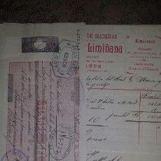 Documentos bancarios: CARTA+ FACTURA+ LETRA DE CAMBIO 1896- MADERAS LINARES Y LIMIÑANA- ALICANTE. Lote 72319191