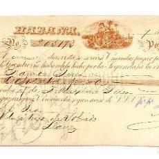Documentos bancarios: LETRA DE CAMBIO JUAN ANTONIO BANCES (PUROS HABANOS TABACOS) LA HABANA CUBA AÑO 1892. Lote 72700271
