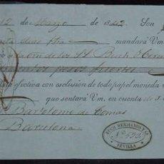 Documentos bancarios: LETRA DE CAMBIO BUCH HERMANOS: EXPEDIDA EN SEVILLA Y ABONADA EN BARCELONA (1842). Lote 73497259
