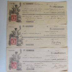 Documents bancaires: 4 LETRAS BANCARIAS DE 1900. Lote 73985615