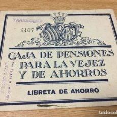 Documents bancaires: INTERESANTE LIBRETA DE AHORRO. CAJA DE PENSIONES. 1948. Lote 74213538