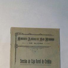 Documentos bancarios: SINDICATO AGRÍCOLA DE SAN BERNARDO. ALCIRA 1920. Lote 75821382