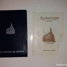 Documentos bancarios: BANCO ESPAÑOL DE CREDITO - LIBRETA. Lote 76029939