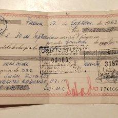 Documentos bancarios: MALLORCA, PAGARÉ DEL CREDITO BALEAR 1963. Lote 76035231