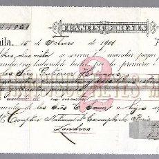 Documentos bancarios: LETRA DE CAMBIO. FRANCISCO REYES. 1901. MANILA. VER. Lote 76204795